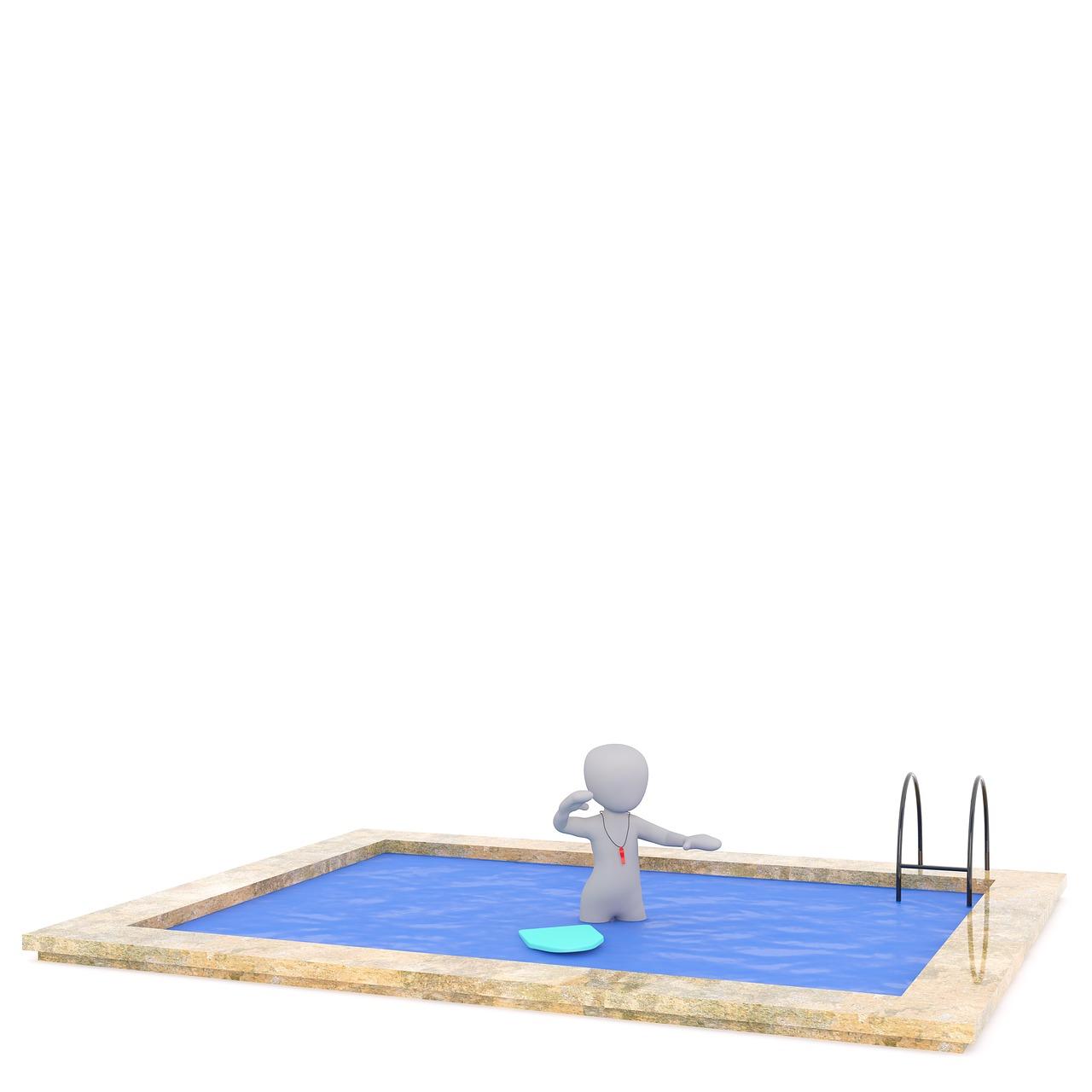 Wie kann eine Gartendusche helfen, den Pool sauber zu halten?